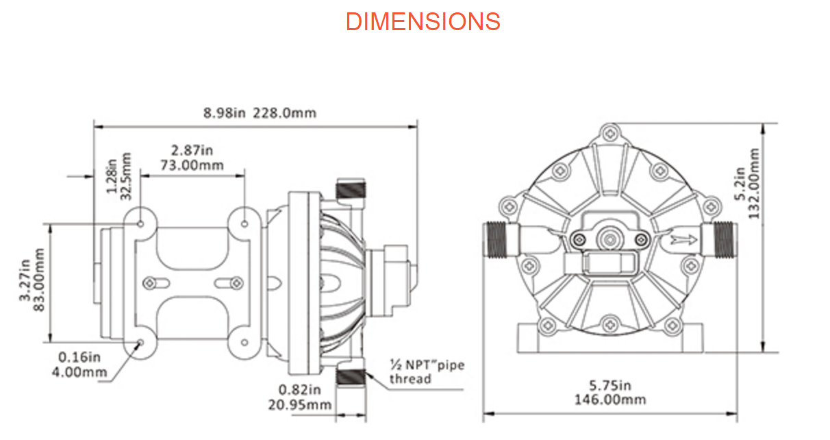 51-series diaphragm water pumps - seafresh marine