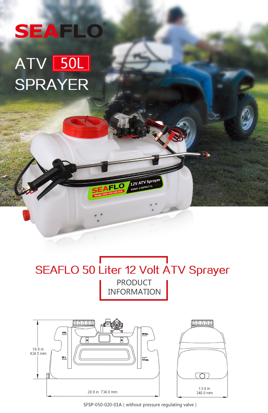 atv spot sprayer 13 gallon, 2 0 gpm pump, 60 psi seafresh marineWiring Harness For Atv Sprayer #18